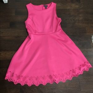 Cynthia Rowley pink scuba dress size 10